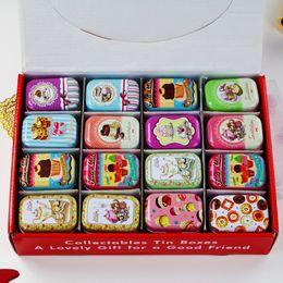 $enCountryForm.capitalKeyWord Australia - 32 Pieces set Mini Makeup Organizer Tin Diy Storage Square Lipstick Small Tea Box Candy Case American Style J190713