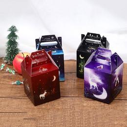 Free design socks online shopping - DIY Christmas glow candy box styles cartoon moose snowflake star design Christmas glow apple wrapped gift box