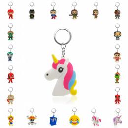 $enCountryForm.capitalKeyWord NZ - 1PCS PVC Key Chain Cartoon Unicorn Mini Anime Figure Key Ring Keychain Holder Fashion Charms Trinket