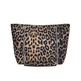 Chain Designs Handbags Australia - good quality Brand Leopard Design Shoulder Bag For Female Winter Faux Fur Tote Bag Women Large Capacity Lady Handbag With Chain