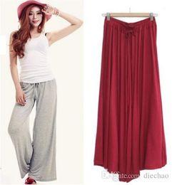 $enCountryForm.capitalKeyWord Australia - Spring And Summer Modal Wide Leg Pants Female Large Size Yoga Pants Loose Belt High Waist Casual Nine Pants Large Size