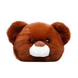 eafc7aaa652 good quality 2019 Lovely Cartoon Bear Female Messenger Handbag Teddy Bear  Head Women Shoulder Bag For Girl Kid Gift Cute Toy Bag