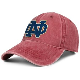 Fighting Australia - Notre Dame Fighting Irish Logo red Men and women Denim caps washing dad hats styles custom Hipster Twill Dad cap