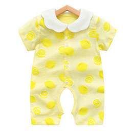 $enCountryForm.capitalKeyWord Australia - 2019 Baby Onesies Summer Cotton Romper Boys Girls 0-24 Months Kids Clothes Knitted Cartoon Short-sleeved Jumpsuit Outfits TC190624 50pcs