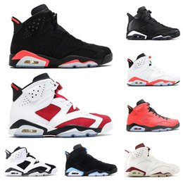 men basketball shoes toro red 2019 - mens 6 6s basketball shoes INFRARED UNC MAROON BLACK CAT Carmine oreo Toro men fashion trainers shoe athletics sports sn