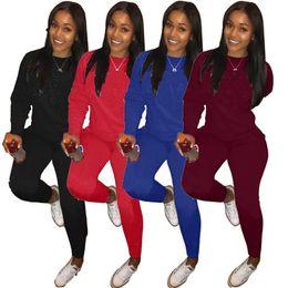 $enCountryForm.capitalKeyWord Australia - pink letter Women Tracksuit Long Sleeve T Shirt Hoodie + Pants Leggings 2pcs Set Sweatsuit Outfit Luxury Sweatshirt Sportswear Plus Size