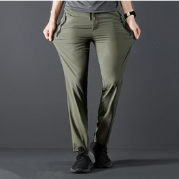 8665ad96e55 2019 New Breathable lightweight Quick Dry Casual Pants Men Summer Casual  Sport Style Trousers Men s Fitness Cargo Pants Male Hot
