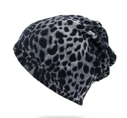 Christmas Beanies UK - 15 Styles Sports Beanies Warm Polyester Unisex Winter Skull Caps Letter Printing Leopard Beanie Cap Dual-use Hats