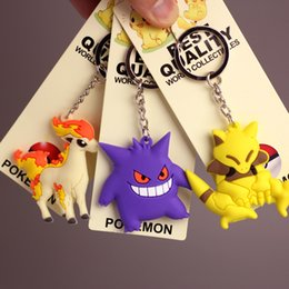 Bulbasaur Figure Australia - 100pcs Pikachu Charmander Bulbasaur Squirtle Dragonite Eevee Mewtwo Snorlax PVC Keychain Action Figure For Child Holiday Party Gifts 4-7cm