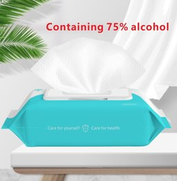 75% Toallitas de alcohol 180 mm * 150 mm Anti húmedo Limpie la desinfección portátil DIPE 50PCS / PACK Limpiador antiséptico Esterilización FS9516 en venta