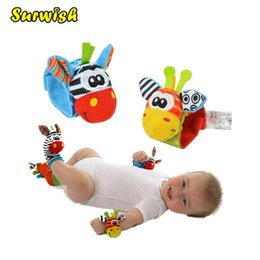 Babies Wrist Rattles Bells Australia - Surwish One Pair Baby Rattles Soft Plush Toy Wrist Band Watch Band Bed Bells Baby Hand Bells Infant Appease Toys Newbron Gift