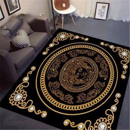 Gem desiGns online shopping - Full Gem Pattern Print Carpet New Noble Court Luxury Design Mat Goddess Medusa New Sparkling Carpet