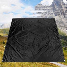 $enCountryForm.capitalKeyWord NZ - 210*200cm Outdoor Camping Picnic Cushion Beach Waterproof Blanket Mat Black Oxford Cloth Moistureproof Mat Camp Bed for Outdoor