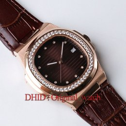 DiamonD watches leather belt online shopping - Luxury Mens Watches Cal sc automatic Watch Diamond Rose Gold L Steel Sapphire Crystal Coffee Dial Cowhide Leather Strap Buckle A192