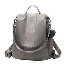 Backpacks For Women Travelling Australia - Litthing Solid Women Backpack Anti Theft School Bags For Teenage Girls Teen Backpack Book Backbag Travel Daypacks Shoulder Bag Y19061102