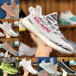 Vente en gros adidas yeezy boost 350 v2 shoes Vente 2018 Nouveau SPLY 350 V2 Boost Belgua 2.0 2 Semi Frozen Jaune Chaussures Pas Cher Kanye West Hommes Femmes Marque De Luxe Basketball Chaussures De Sport