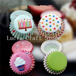 Kitchen liner online shopping - Lucia crafts Approx cm Aprrox cm Random Colors Cake Liners Baking Paper Cup Muffin Kitchen Cupcake