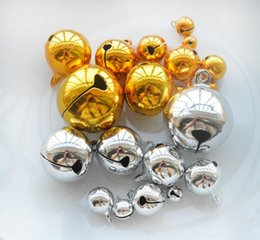 $enCountryForm.capitalKeyWord Australia - 6-20MM Gold Silver Color Jingle Bells Iron Loose Beads Small DIY Craft For Festival Party Christmas Tree Decorations