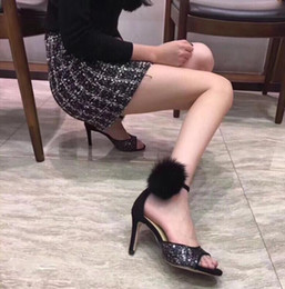 Black Sequins Shoes Australia - Summer New Sexy Women Brand High Heel Sandals,Fashion Black Glitter Sequins Shoes, 8cm 10cm Heel,Women Open Toe High Heeled Party Shoes