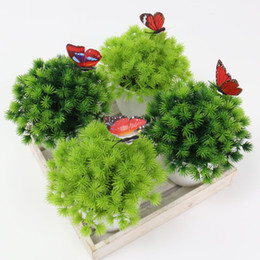 $enCountryForm.capitalKeyWord Australia - Simulation plant plastic fake flower small tree potted Garden living room home decoration green plant bonsai Photography props