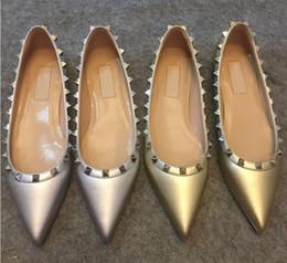 $enCountryForm.capitalKeyWord Australia - 2019 original box hot sexy fashion ladies high heels women rivet dress shoes 34-41 leather wedding shoes flat sandals Litchi pattern
