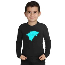 $enCountryForm.capitalKeyWord UK - Game of Thrones Shirts for Kids Arya Stark Anime T Shirt Girl Funny Glow in The Dark Boys Tops Tee Shirt Enfant Garcon