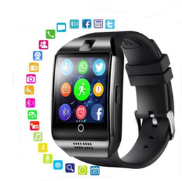 bluetooth smart watch sim Australia - Q18 Smart Watch Bluetooth Smart watches for Android Cellphones Support SIM Card Camera Answer Call and Set up Various Language with Box