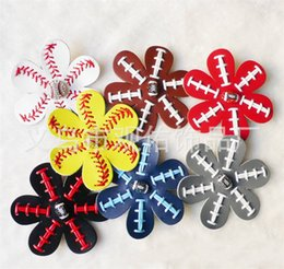 Valentine hair online shopping - Softball Sports Hairclips Knitting Printing Color Mix Women Trumpet Hair Barrettes Fashion Valentines Day Party Favor gyE1