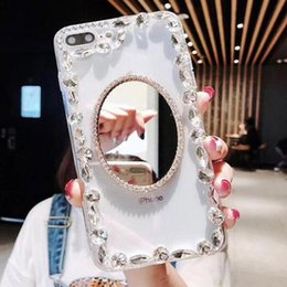 $enCountryForm.capitalKeyWord Australia - Luxury Rhinestone Mirror Designer Phone Case For Iphone X XR XS Max 8 7 6 6s plus S8 S9 S10 Note9 TPU Back Cover Skin Shell Hull GSZ533