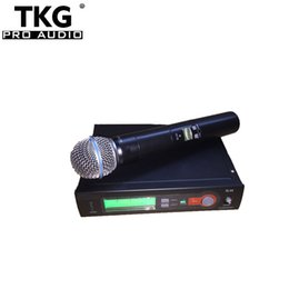 $enCountryForm.capitalKeyWord NZ - 2018 best quality professional teach uhf china 572-820mhz karaoke handheld wireless microphone mic SLX14 SLX4 SLX SLX24 58a microphone