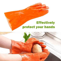 potato peeling gloves Australia - 1 Pair Peeled Potato Cleaning Gloves Kitchen Vegetable Rub Fruits Skin Scraping Fish Scale Non-slip Household Glove Dishwashing