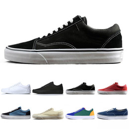 Red white canvas wall aRt online shopping - New THE WALL old skool Wans FEAR OF GOD For men women canvas sneakers YACHT CLUB MARSHMALLOW fashion skate casual shoes