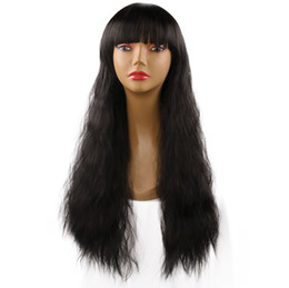 $enCountryForm.capitalKeyWord UK - Fashion Hot Sale Mechanism High Temperature Silk Lady Fluffy Corn Hot Long Curly Hair Chemical Fiber Hair Wig Set jooyoo