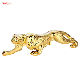 Decoration fortune online shopping - E FOUR Car Ornaments Chinese Traditional Style Fortune Bless Leopard Decoration Car Styling God Bless Strong High Class Ornament