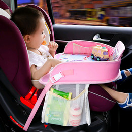 Baby Car Seat Toys Australia - Multifunctional Baby Car Safety Seat Tray Storage Kids Toys Waterproof Drink Table Portable Car Chair Stroller Holder Playp