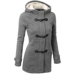 $enCountryForm.capitalKeyWord UK - Trench Women Coat Spring Autumn Womens Overcoat Female Long Hooded Coat Zipper Horn Button Outwear women clothes