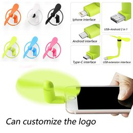 Phone Types Australia - Mini Micro USB Fan Cool Mobile Phone USB Fan Portable Cooler Cooling Fan Cell phone For type-c micro USB iPhone x
