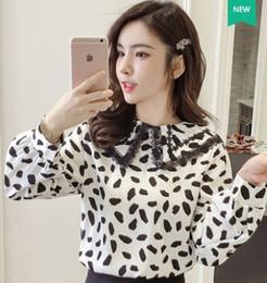 e3e597b4b896 Free Shipping New Arrival Hot Sale Special Fashion Female Korean Version  Super Fairy Doll Collar Long Sleeve Pullover Leopard Top Tide Shirt
