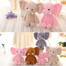 $enCountryForm.capitalKeyWord Australia - Mini Cute Lovely Elephant Stuffed Animals Kids Baby Soft Plush Toy Birthday Gift 4 Colors for choices