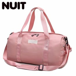 db0f0a74f448 Women Travelling Bags Polyester Bag Light Travel Sports Portable Training  Bags Male Dry And Wet Separation Waterproof Bag