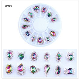 Wholesale 1Box Nail Crystal Stone Rainbow Design D Nail Rhinestone Crystal Glitter For DIY Manicure Art Decorations Accessories ZP1