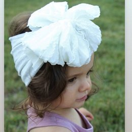headband packs Australia - FEESHOW 8 Pack 55 Inch Baby Girl Big Bow Headband Hair Bow Band Turban Headwrap 8 Pack Big Bow Band wp content hairclippersshop YroKg