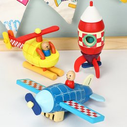 $enCountryForm.capitalKeyWord Australia - Toys Wooden Magnetic Traffic Tool Aircraft Rocket Vehicles Toy Cognition Series Tractor Trains Playthings Kid Use Hands 16py N1