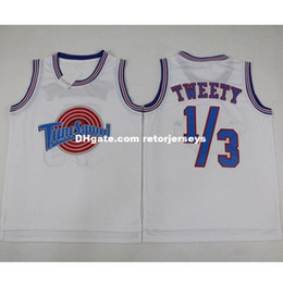 169e17044a6 Cheap Customize Space Jam Tune Squad Basketball Jersey TWEETY 1 3  White  Ship Add any name NO. White XS-5XL