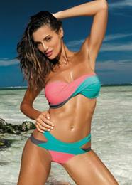 $enCountryForm.capitalKeyWord UK - Women Bikini Fission Mixed colors Swimsuit Cross waistband Style Summer Beach Sexy Swimwear Eight colors Hot New Style