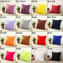 Pillow cases sizes online shopping - Square Home Sofa Decor Pillow Cover Case Cushion Cover Size quot quot quot