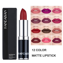$enCountryForm.capitalKeyWord Australia - HANDAIYAN Matte Lipstick Waterproof Nude Batom Cosmetics Brown Velvet Lipstick Balm Brand Lip Sticks Makeup For Women