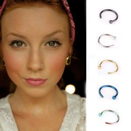 $enCountryForm.capitalKeyWord Australia - H:HYDE 1pc Fashion Fake Septum Medical Titanium Nose Ring 5 Colors Body Clip Piercing Jewelry For Women Punk Style Jewelry Gift