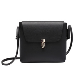 C purses online shopping - Cheap Simple Vintage Small Women Leather Messenger bag Lady Shoulder bag Handbag With Hasp Cover Solid Flap Bag Retro Purse C