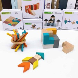 BaBies toy Boxes online shopping - 2019 New hot sell baby Puzzle cube Travel Iron Boxed Cube Puzzle Block Gyro Baby Early Learning Cognitive Creative toy